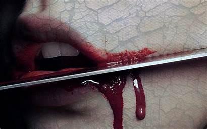 Scary Blood Dark Creepy Gothic Knife Emo