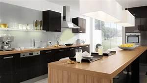 Mariage du bois et du noir amenagement deco en charente for Idee deco cuisine avec meuble cuisine noir et bois