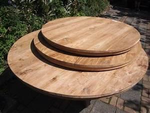Runde Gartentische : ronde teak tafelbladen ~ Pilothousefishingboats.com Haus und Dekorationen