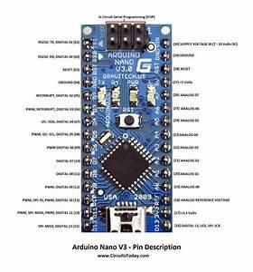 Arduino Nano Pinout  U0026 Schematics