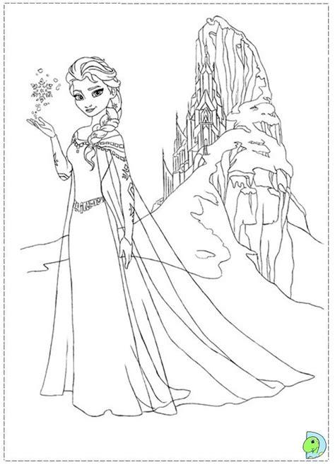 dibujos de las princesas de frozen  pintar colorear