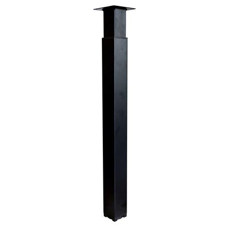 pied de plan de travail cuisine pied de plan de travail carré réglable en acier époxy noir