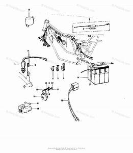 Kawasaki Motorcycle 1973 Oem Parts Diagram For Chassis