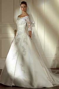 princess wedding dresses with sleeves for modest casual With dresses with sleeves for wedding