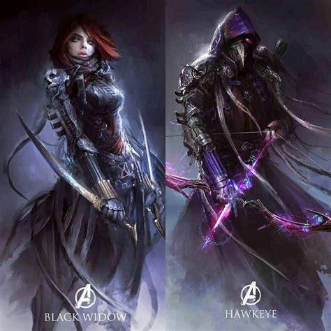 The Medieval Avengers Part Black Widow Hawkeye