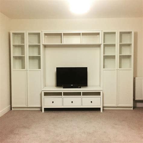 Ikea Hemnes Arbeitszimmer by Ikea Storage System Hemnes Tv Stand Bench Billy Bookcase