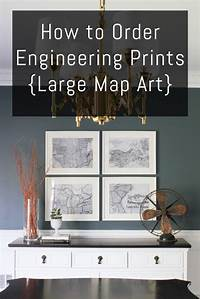 nice art decor wall ideas How to Order Engineering Prints {Large Map Art} - DIY on the Cheap by Erin Spain