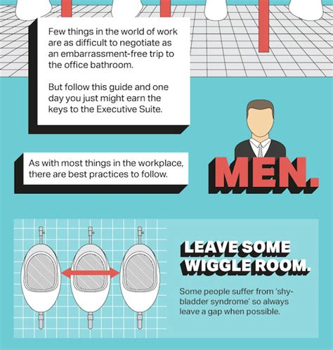 infographic  ultimate guide  office bathroom etiquette designtaxicom