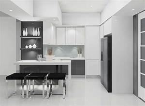 Cocinas blancas y negras 50 ideas geniales a considerar for Kitchen colors with white cabinets with contemporary metal wall art sculpture