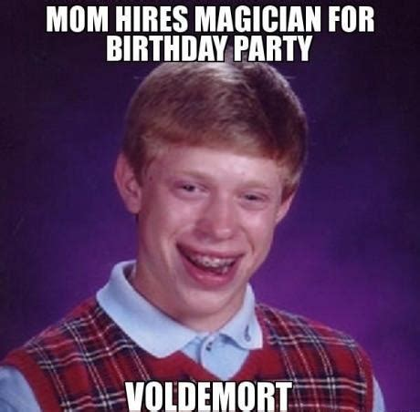 Harry Potter Birthday Memes - harry potter birthday meme magician for birthday party bad luck brian meme1 19 funny memes to