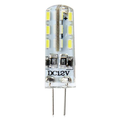 20pcs g4 base 24 led l bulb smd 3014 3w dc 12v white