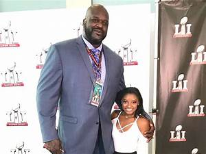 Shaq and Simone Biles have an insane height difference ...