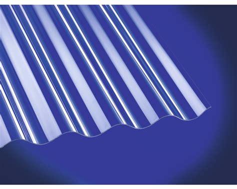Polycarbonat Wellplatte Sinus 7618 Klar 0,8x1040x2500 Mm