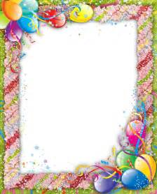 Transparent Birthday Borders and Frames