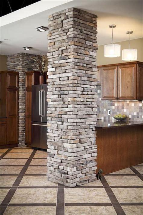 stone columns ideas  pinterest stone front