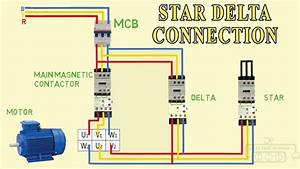 Star Delta Connection 3 Phase Motor Diagram