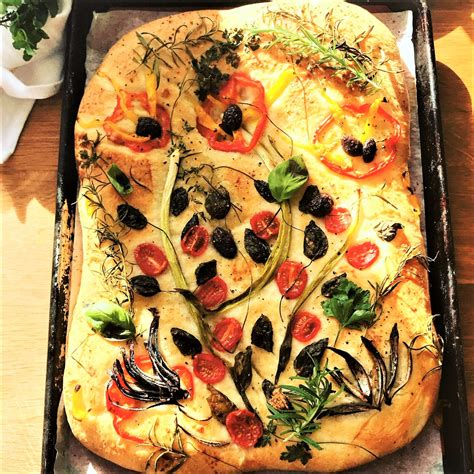 garden pretty focaccia marcy goldmans  baking