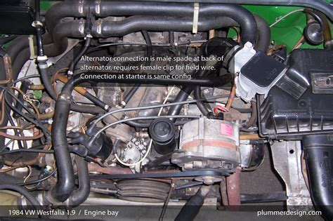 Vw Mk1 Alternator Wiring by Thesamba Gallery 1984 Vw Westfalia 1 9 Engine Bay