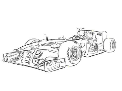 Kleurplaat Formule 1 Bull 2016 by F1 Car Coloring Pages Learning Printable