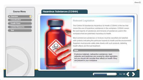 coshh  training health  safety