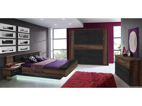 lit 160x200 cm 2 chevets suspendus led dolce cottage