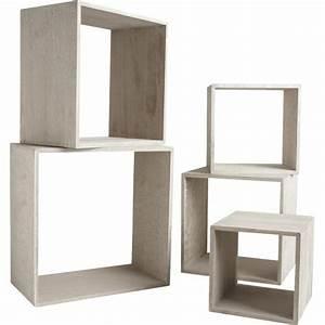 Cube De Rangement Mural : etagere cube bois etag re aubry gaspard sur ~ Dailycaller-alerts.com Idées de Décoration