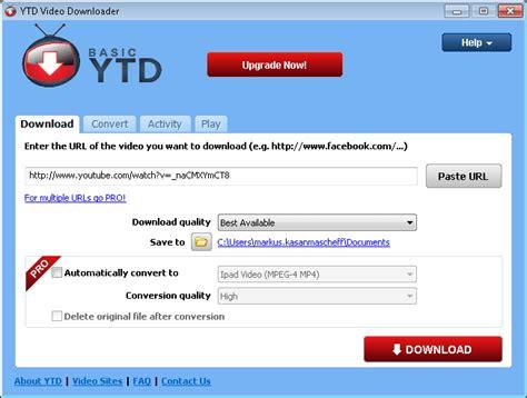 free youtube ytd downloader