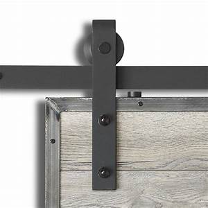 colonial elegance 1 78 3 4 in x 37 in barn sand black With barn door hinge kit