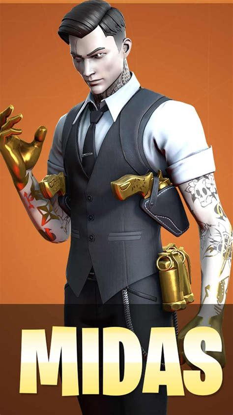 Perfect screen background display for desktop, iphone, pc, laptop, computer. Midas Fortnite skin phone wallpaper download HD backgrounds for iPhone android lock screen in ...