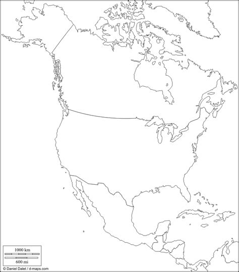 unlabeled map  north america az coloring pages