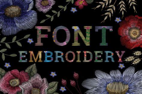 Font flower embroidery ~ Serif Fonts ~ Creative Market
