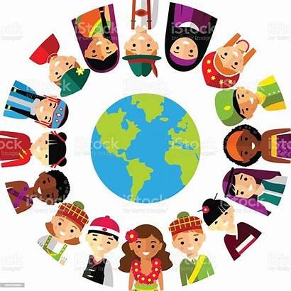 Multicultural Children Illustration Vector National Earth Planet