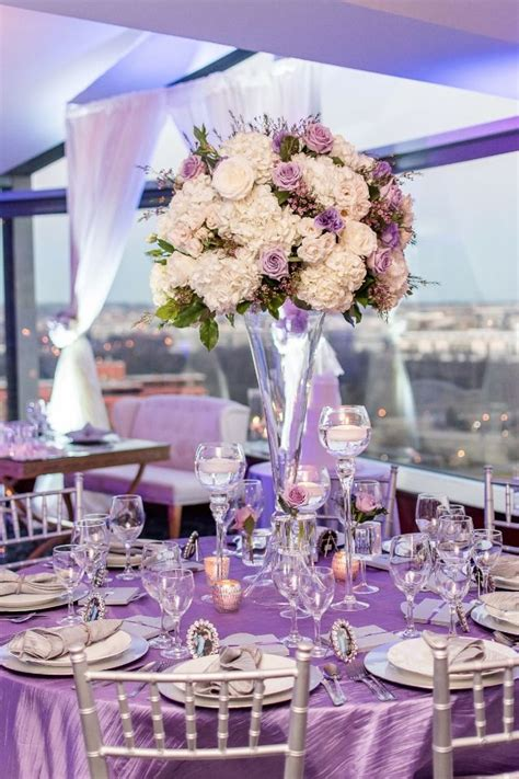 purple silver decorations 10664 best images about n luxury wedding centerpieces on wedding reception