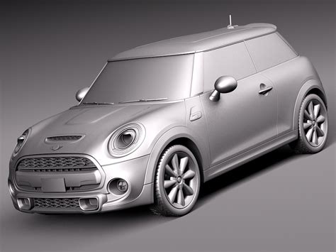 Mini Cooper S 2015 3d Model .max .obj .3ds .fbx .c4d .lwo