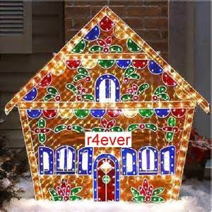 amazon com holographic lighted gingerbread house christmas yard decorations