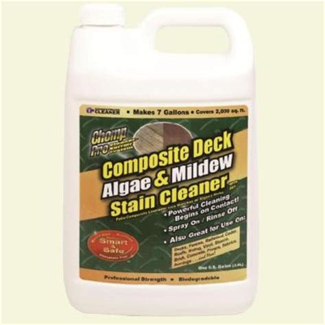 trex deck cleaner home depot chomp 1 gal composite deck cleaner 53040 the home depot