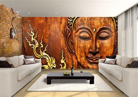 thai carved buddha custom wallpaper mural print  jw