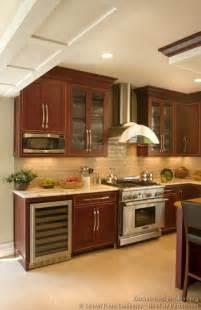 Kitchen Backsplash Ideas Dark Cherry Cabinets by Pictures Of Kitchens Traditional Dark Wood Cherry