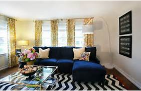 Navy Blue Interior Design Idea Beyond The Aisle Fall Color Navy Blue And Honey Gold Home Decor