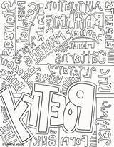 Poetry Pages Coloring Poet Printable Template Getcolorings Getdrawings sketch template