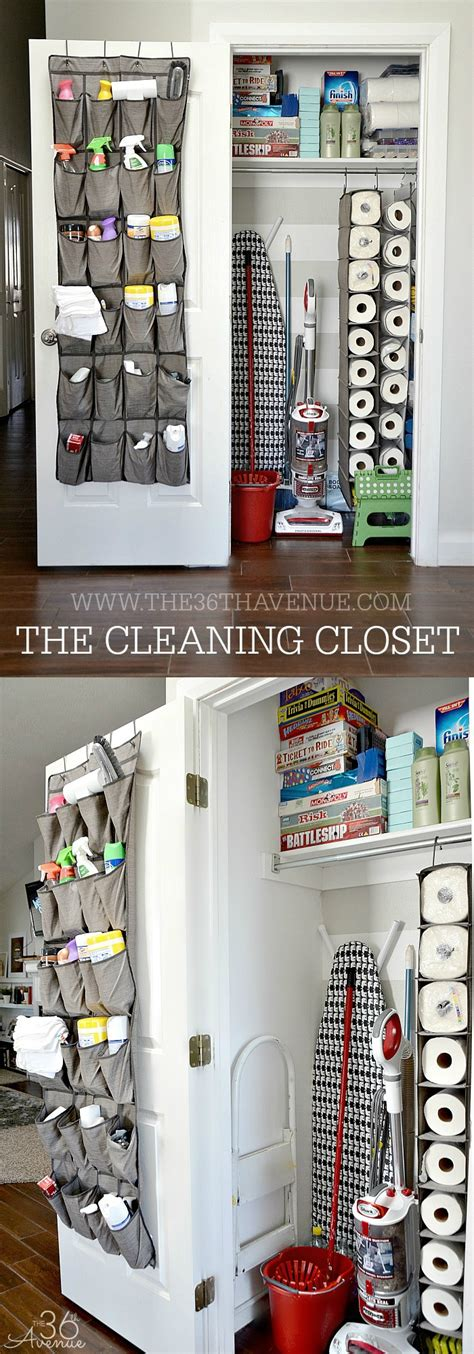 Cleaning Tips  Diy Cleaning Closet  The 36th Avenue