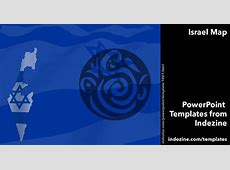 Israel Map 02 PowerPoint Templates