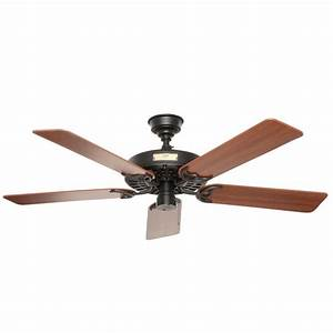 hunter original 52 in indoor outdoor black ceiling fan With hunter pro c outdoor lighting
