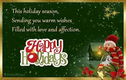 Warm Wishes Holiday Season Lovely Holidays Happy