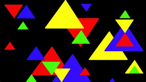 Abstract Colorful Geometric Shapes by 2950856 1920x1080 Abstract Geometry Black Background