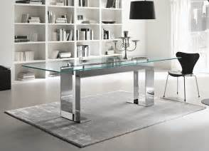 tonelli miles glass chrome dining table contemporary