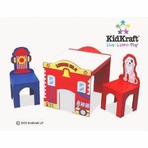 Kidkraft Fire Truck Table and Chairs Home decor
