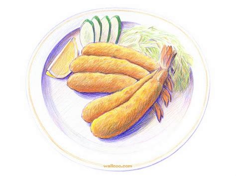 cuisine dwg colored pencil drawings of foods wallpaper 2 wallcoo