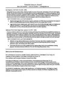 resume for aviation aviation resume exle