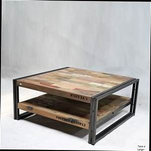 Table Basse Industrielle Conforama : table basse industrielle bois metal ~ Preciouscoupons.com Idées de Décoration